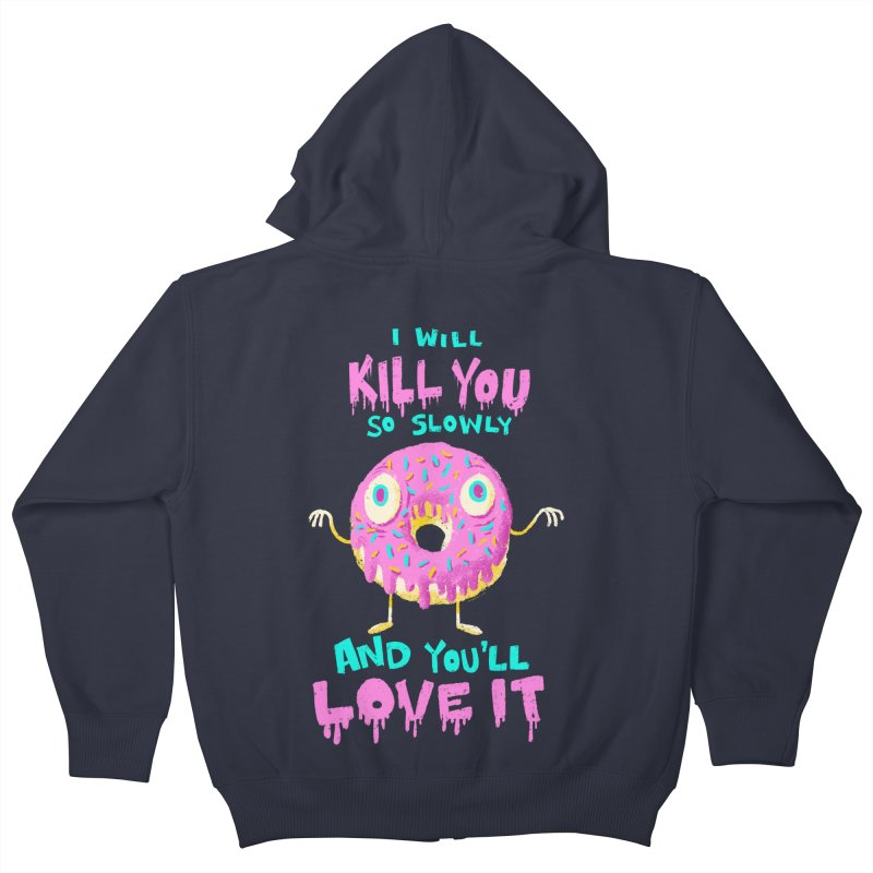 Donuts Will Kill You Kids Zip-Up Hoody by Nate Bear