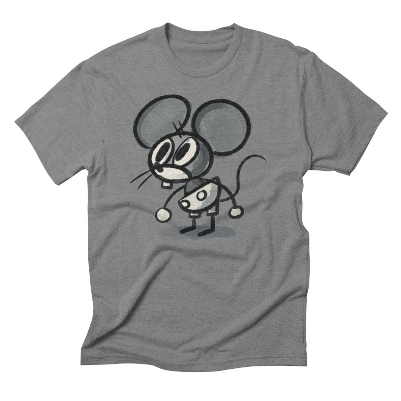 Mouse Men's Triblend T-Shirt by Nate Bear