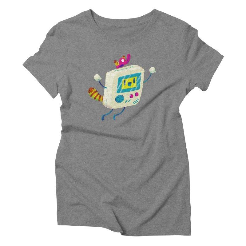 Raccoon Game Bro Women's Triblend T-Shirt by Nate Bear