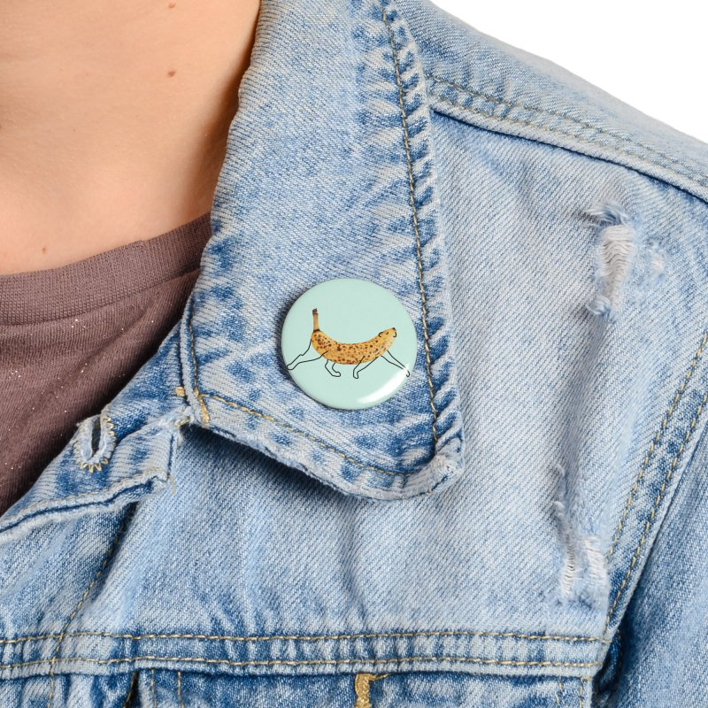 Banana Leopard Accessories Button by Nate Christenson