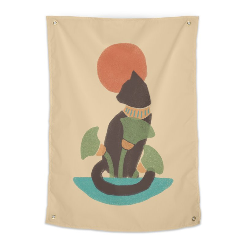 Egyptian Cat Home Tapestry by Nate Christenson