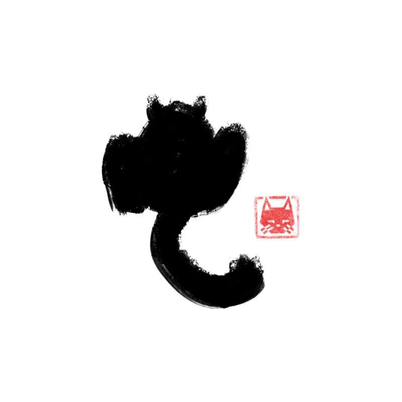 Calligraphy Cat Men's T-Shirt by Nate Christenson