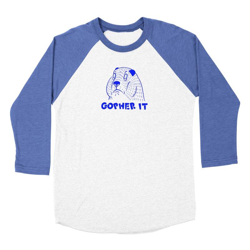 Gopher It Men's Baseball Triblend Longsleeve T-Shirt by Nate Christenson