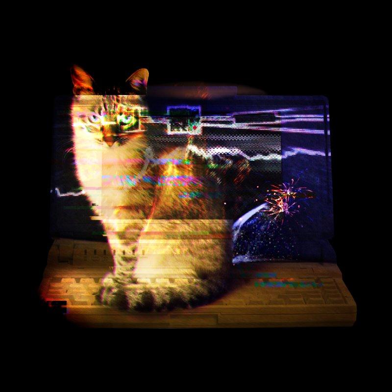 Resting Glitch Cat by Nate Christenson