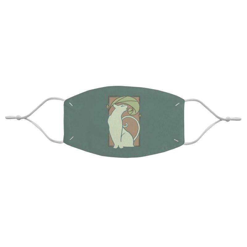 Art Nouveau Cat Accessories Face Mask by Nate Christenson
