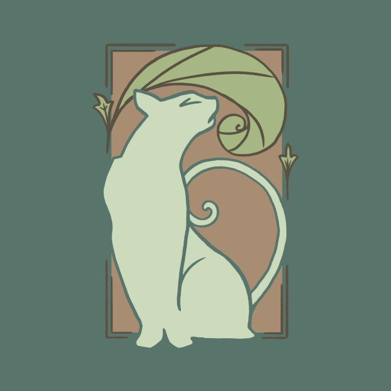 Art Nouveau Cat Home Tapestry by Nate Christenson