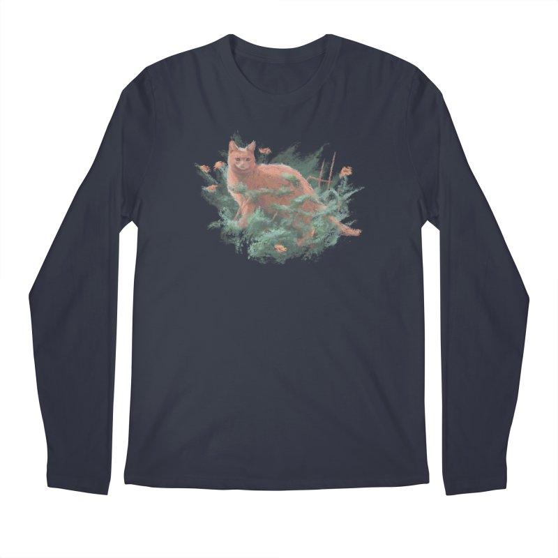 Impressionist Cat Men's Longsleeve T-Shirt by Nate Christenson