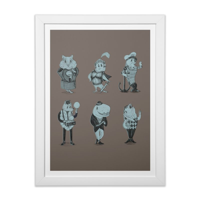 Know Your Animals in Framed Fine Art Print White by Nate Christenson