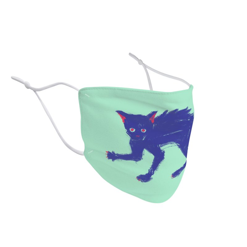 Expressionist Cat Accessories Face Mask by Nate Christenson