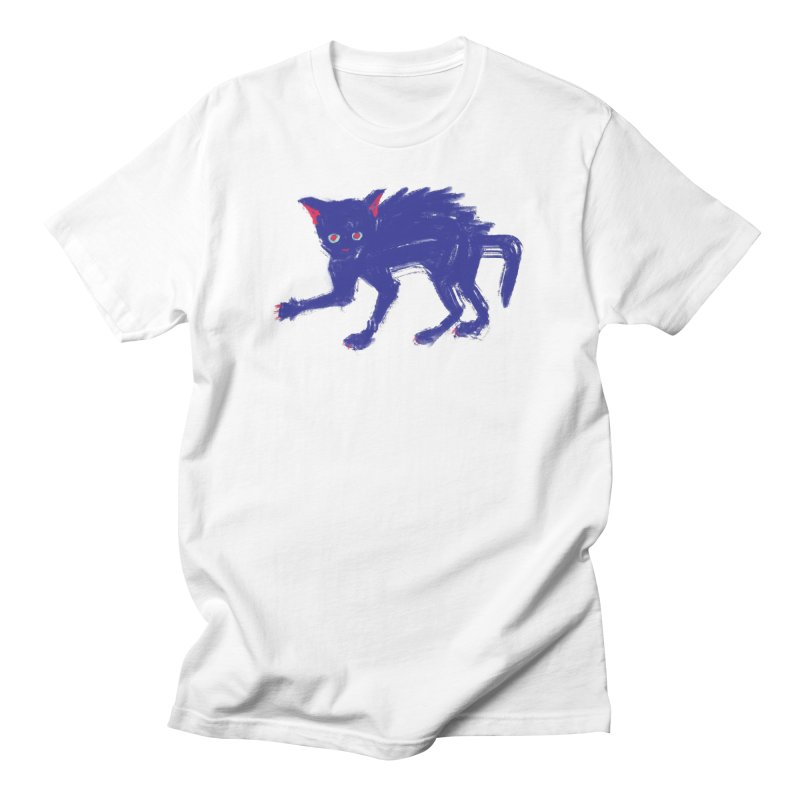 Expressionist Cat Men's T-Shirt by Nate Christenson