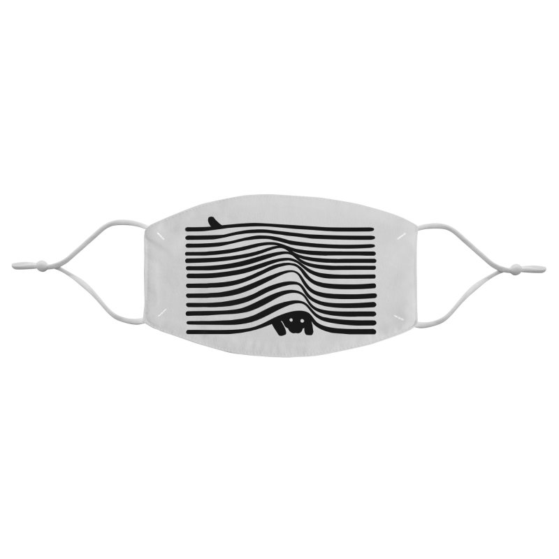 Op Art Cat Accessories Face Mask by Nate Christenson