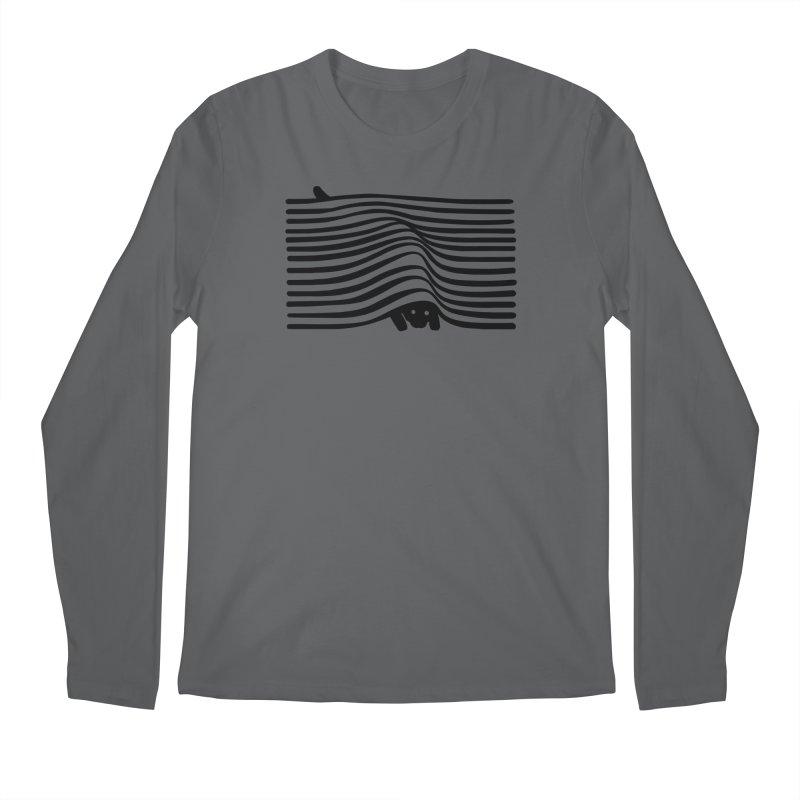 Op Art Cat Men's Longsleeve T-Shirt by Nate Christenson
