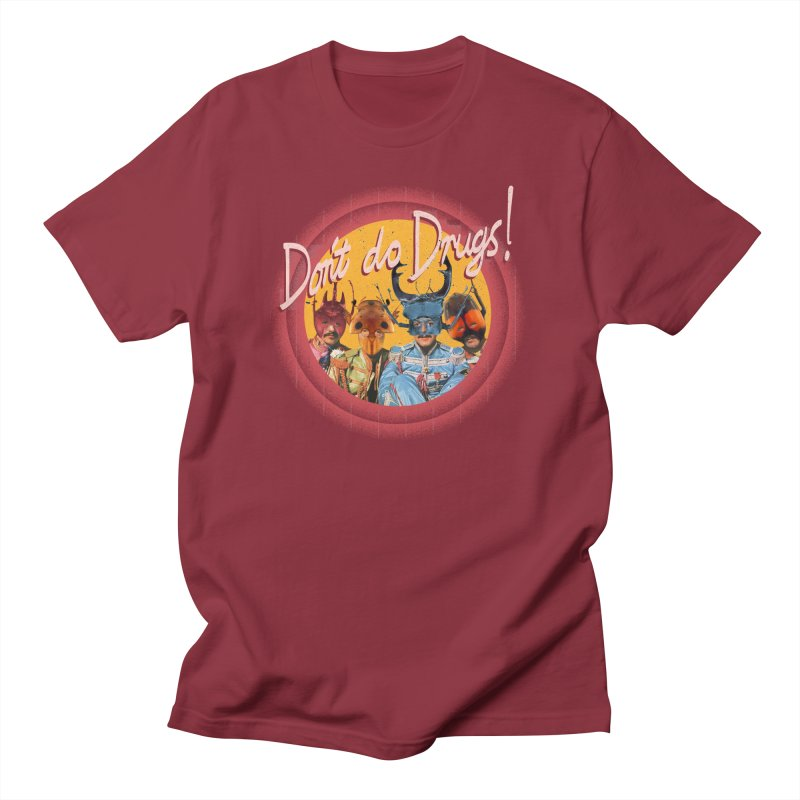 Beetle Tunes in Men's Regular T-Shirt Scarlet Red by Nate Christenson