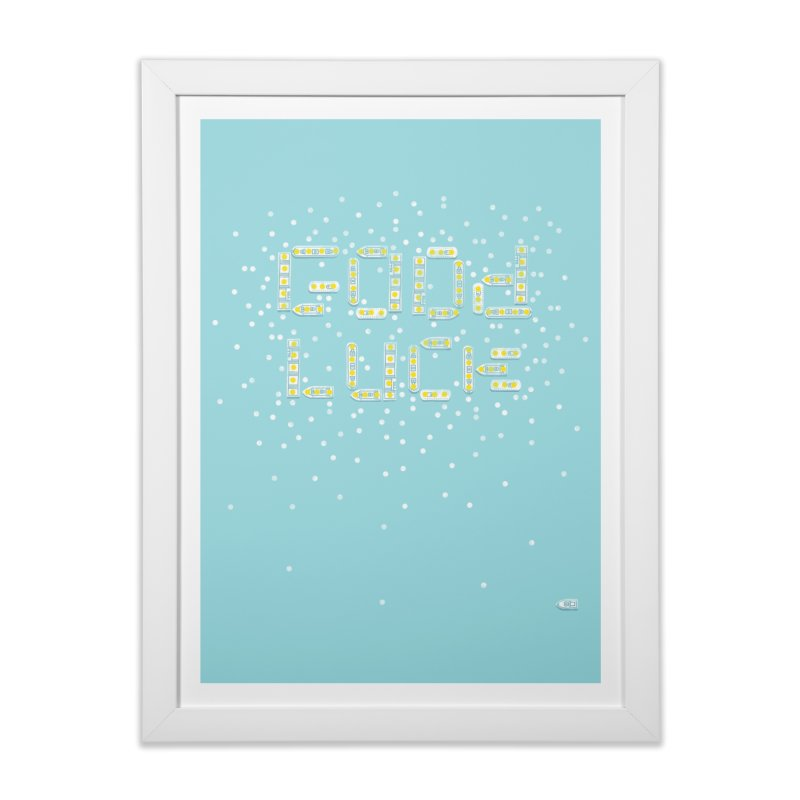 Good Luck in Framed Fine Art Print White by Nate Christenson