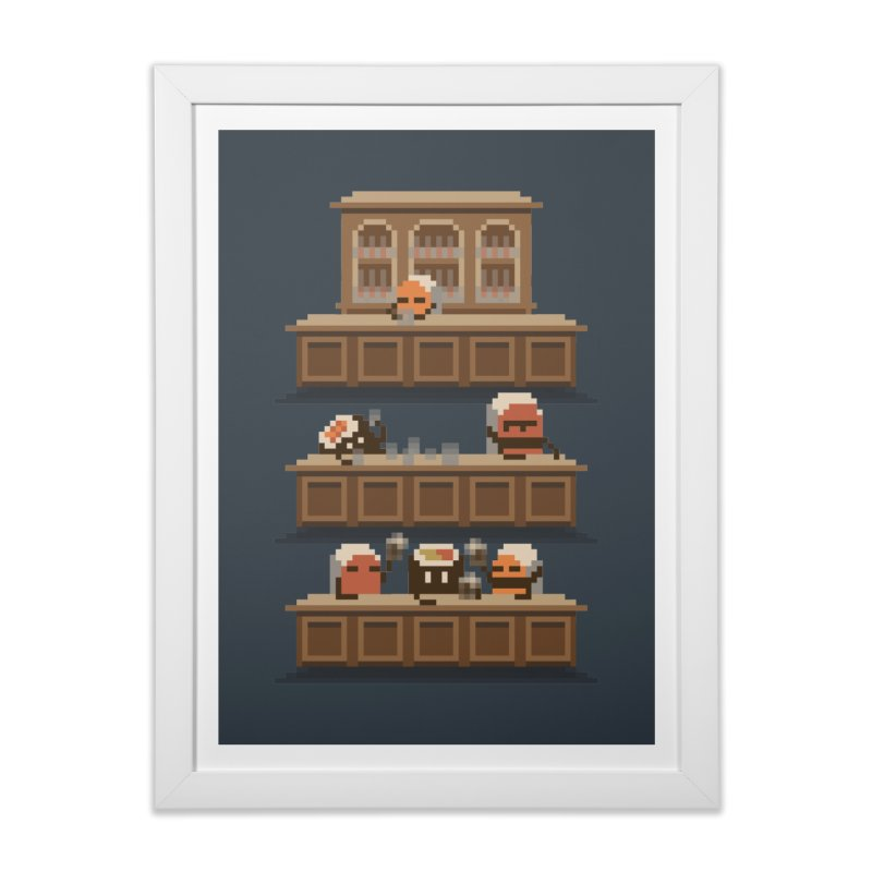 Sushi Bar in Framed Fine Art Print White by Nate Christenson