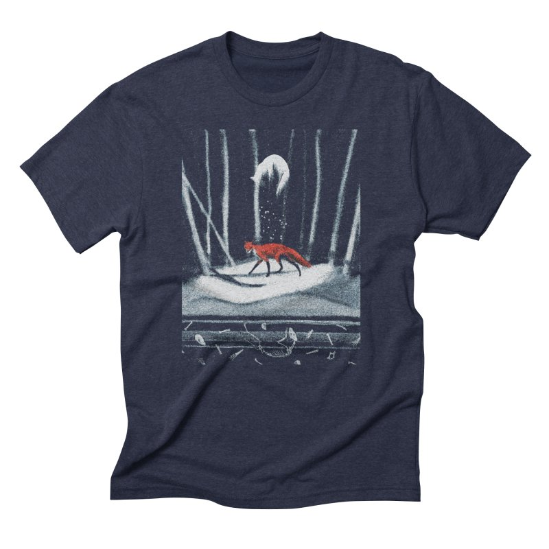 Death Cycle in Men's Triblend T-Shirt Navy by Nate Christenson