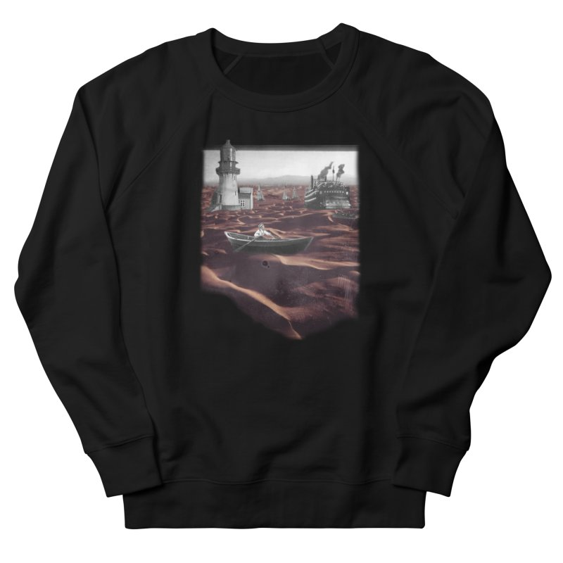 Across the Sea of Sand Women's French Terry Sweatshirt by Nate Christenson