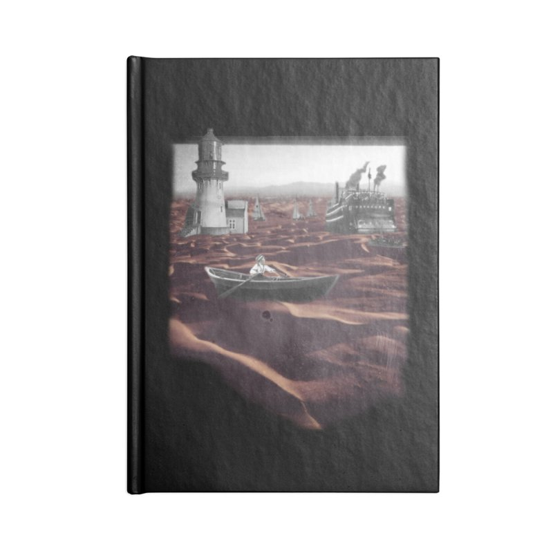 Across the Sea of Sand Accessories Blank Journal Notebook by Nate Christenson