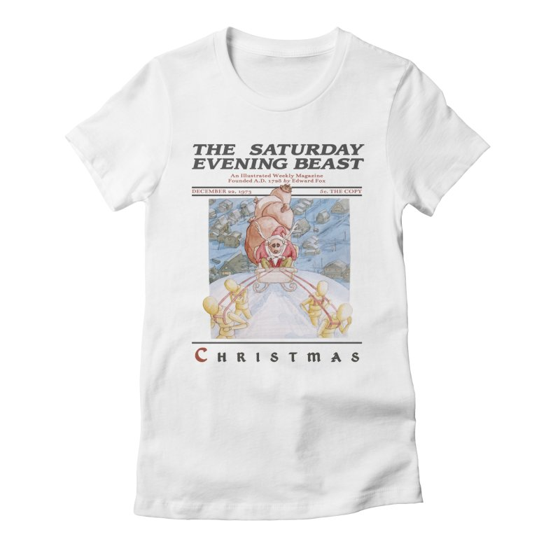 The Reindeer Who Stole Christmas Women's Fitted T-Shirt by Nate Christenson