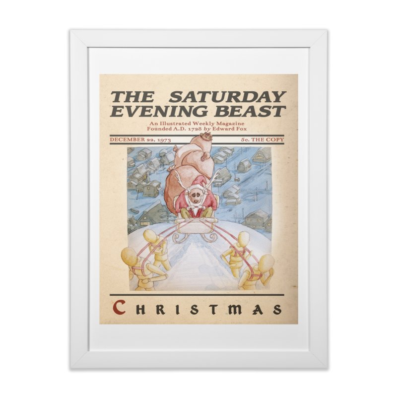 The Reindeer Who Stole Christmas Home Framed Fine Art Print by Nate Christenson