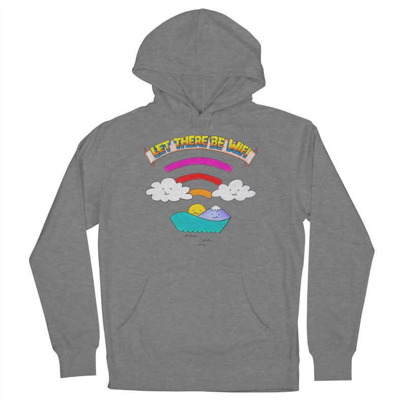 Let There Be Wifi Men's French Terry Pullover Hoody by Nate Christenson