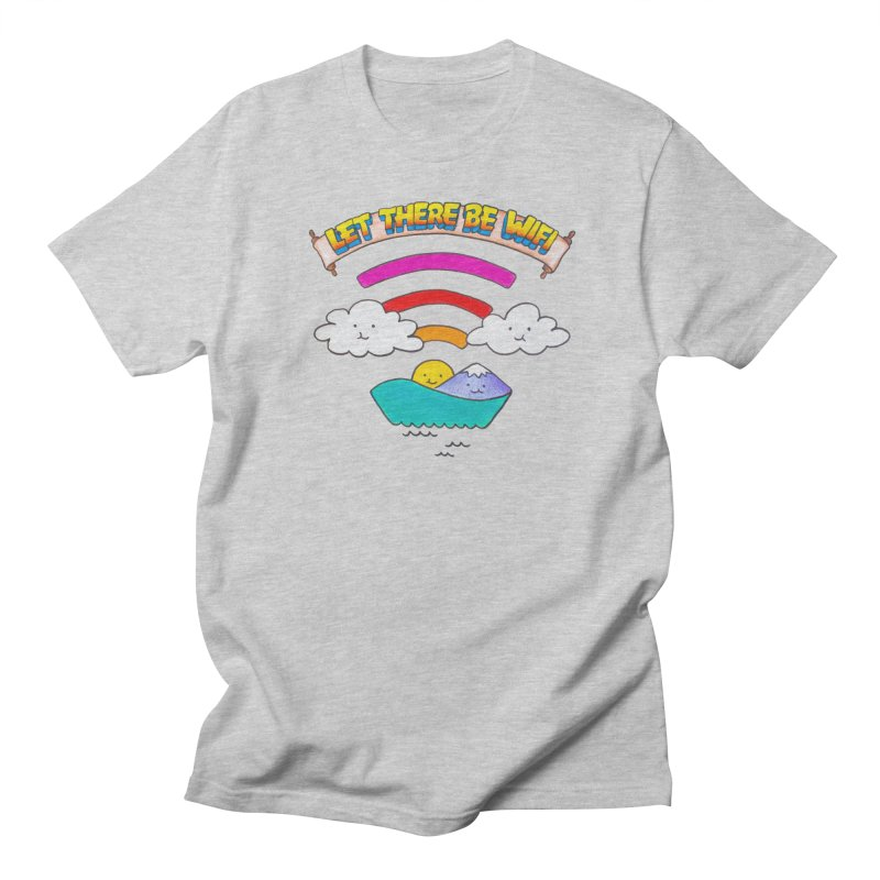 Let There Be Wifi Men's Regular T-Shirt by Nate Christenson