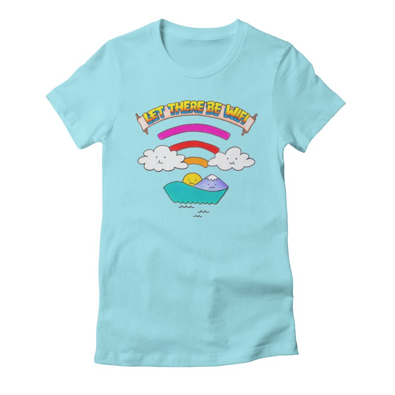 Let There Be Wifi Women's Fitted T-Shirt by Nate Christenson
