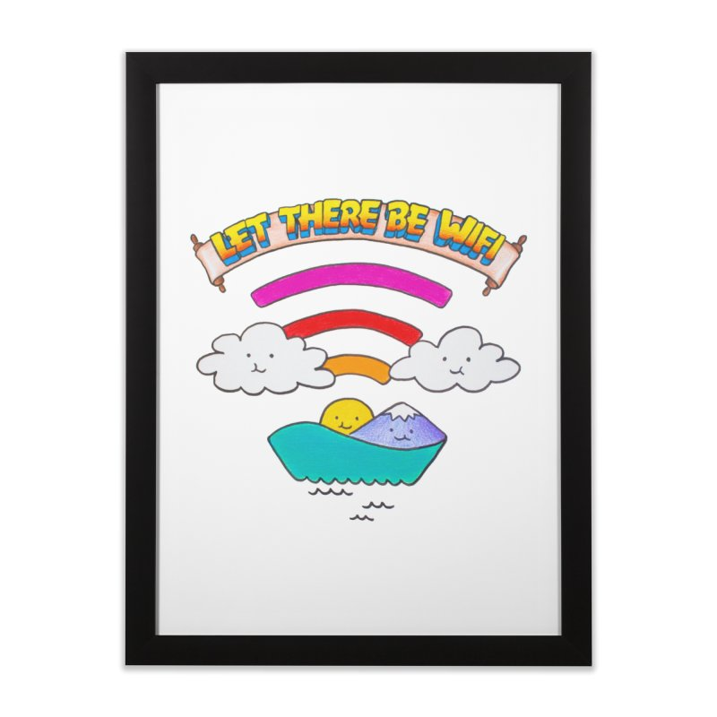 Let There Be Wifi Home Framed Fine Art Print by Nate Christenson