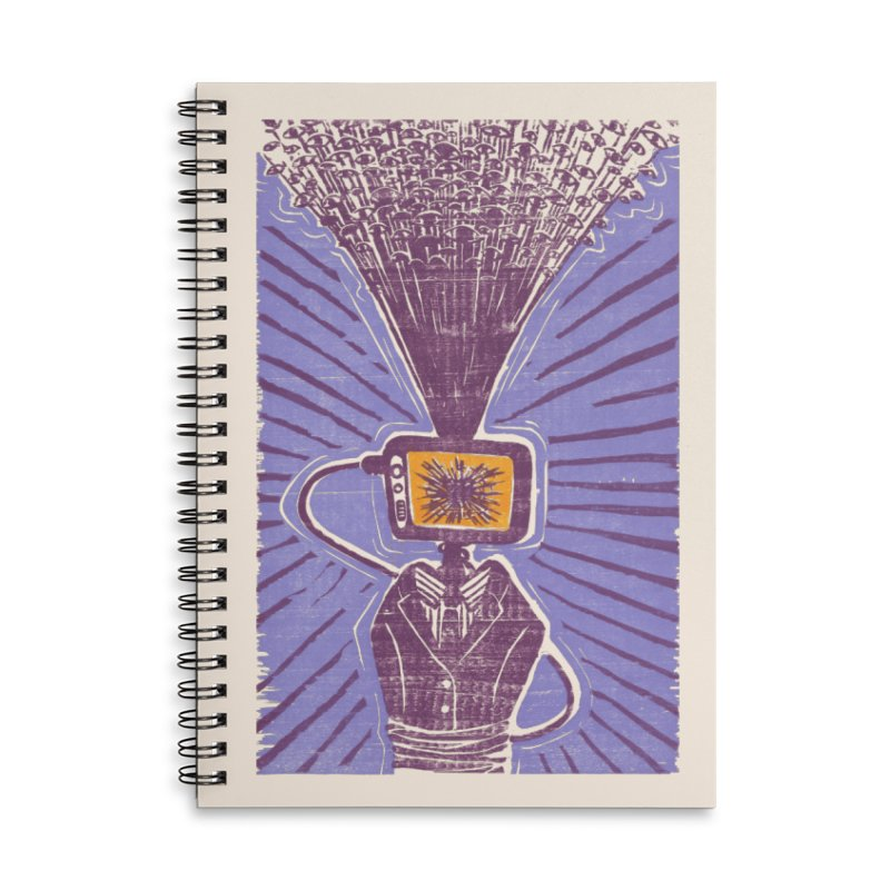 Information Overload in Lined Spiral Notebook by Nate Christenson