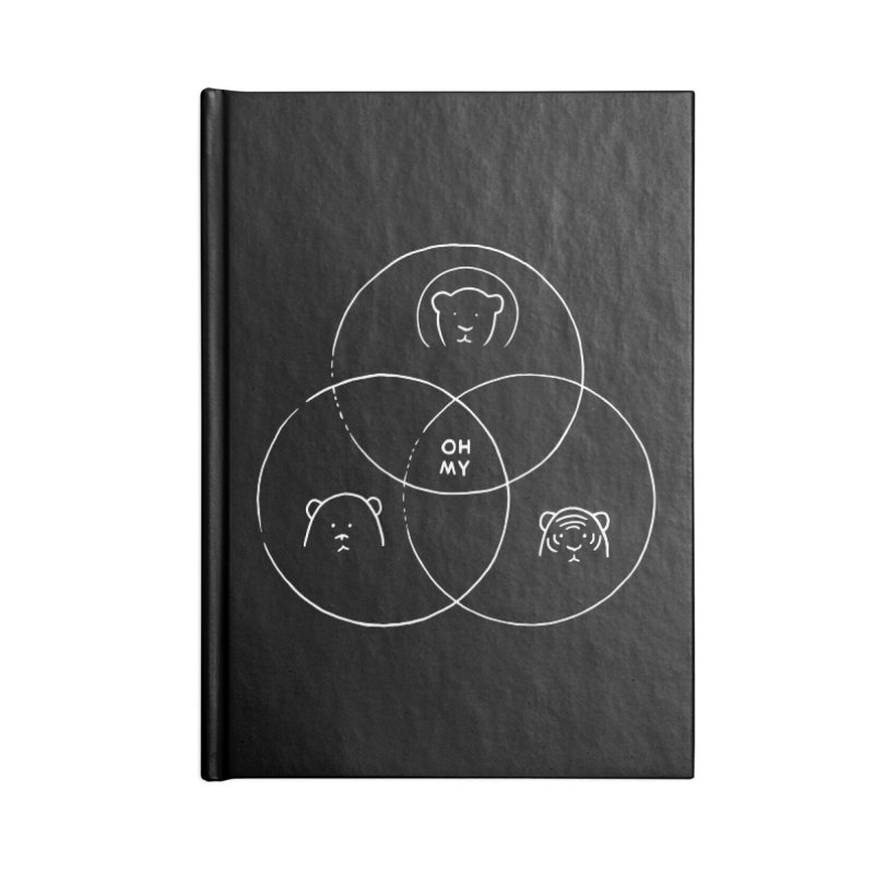Lions + Tigers + Bears in Blank Journal Notebook by Nate Christenson