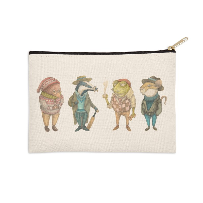 Wind in the Willows in Zip Pouch by Nate Christenson