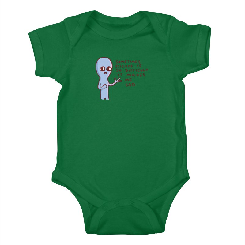 STRANGE PLANET SPECIAL PRODUCT: SCIENCE Kids Baby Bodysuit by Nathan W Pyle