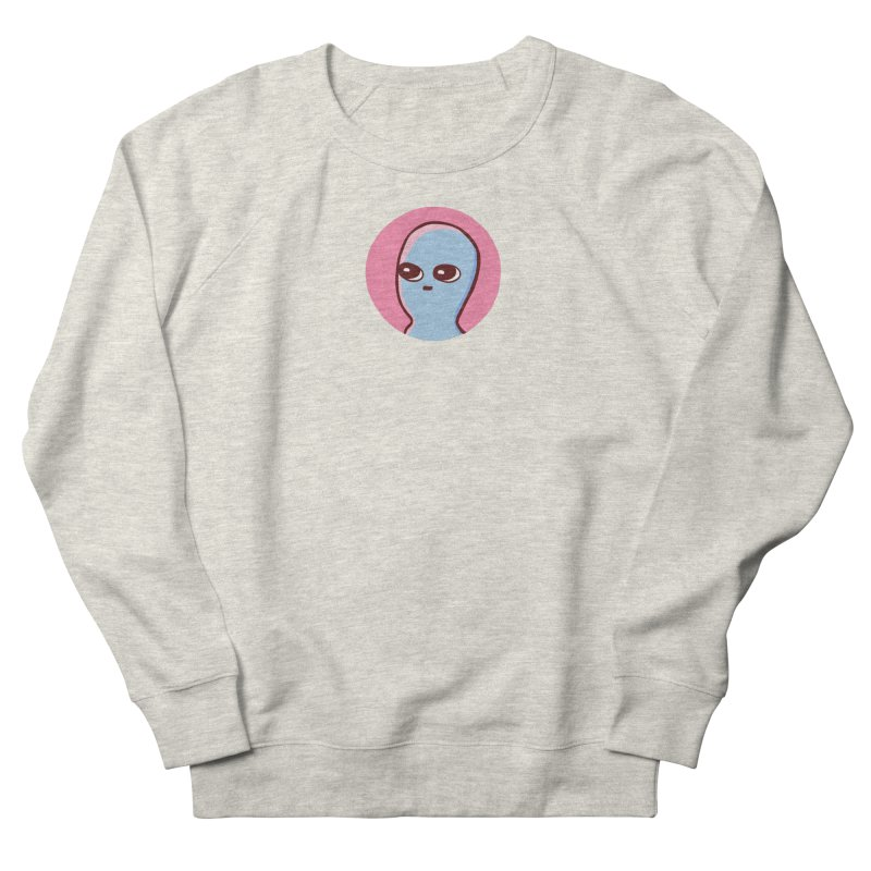 STRANGE PLANET SPECIAL PRODUCT: CENTERED ICON Women's French Terry Sweatshirt by Nathan W Pyle