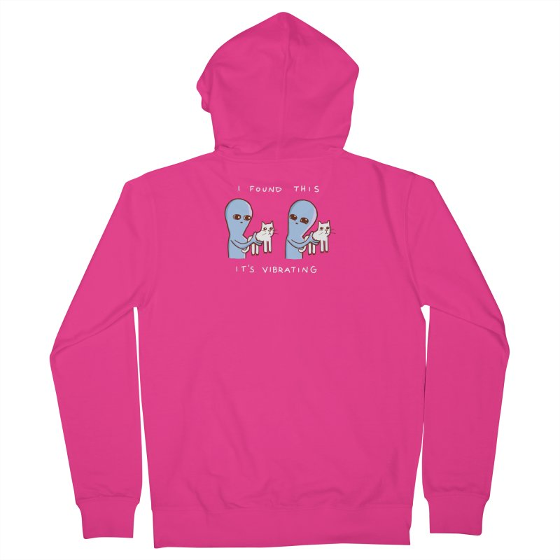 STRANGE PLANET SPECIAL PRODUCT: VIBRATING (Smaller) Men's French Terry Zip-Up Hoody by Nathan W Pyle