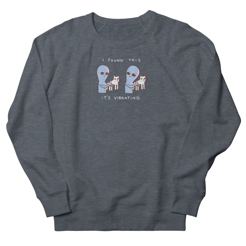 STRANGE PLANET SPECIAL PRODUCT: VIBRATING (Smaller) Women's French Terry Sweatshirt by Nathan W Pyle