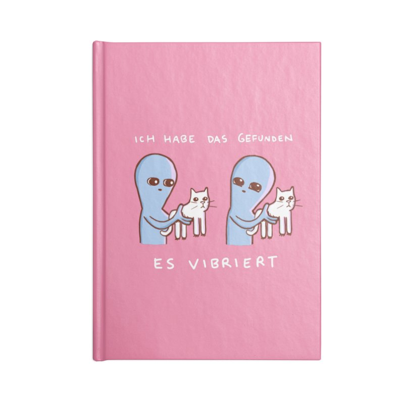 STRANGE PLANET SPECIAL PRODUCT: VIBRATING IN GERMAN Accessories Blank Journal Notebook by Nathan W Pyle