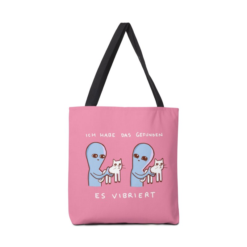 STRANGE PLANET SPECIAL PRODUCT: VIBRATING IN GERMAN Accessories Tote Bag Bag by Nathan W Pyle