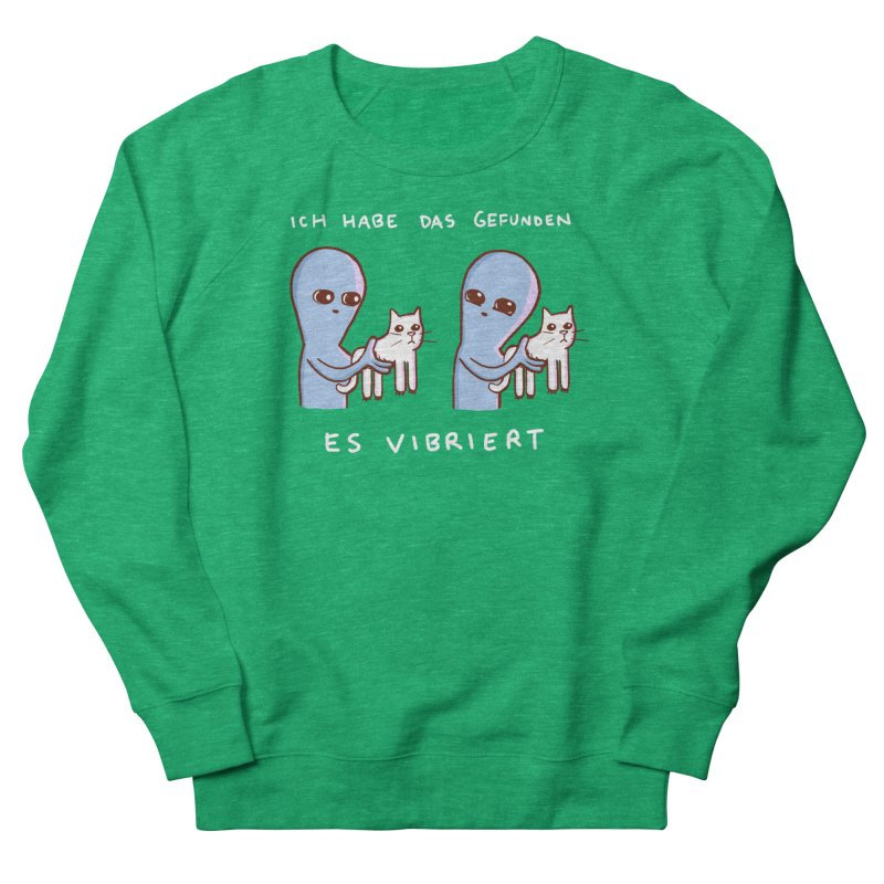 STRANGE PLANET SPECIAL PRODUCT: VIBRATING IN GERMAN Women's French Terry Sweatshirt by Nathan W Pyle