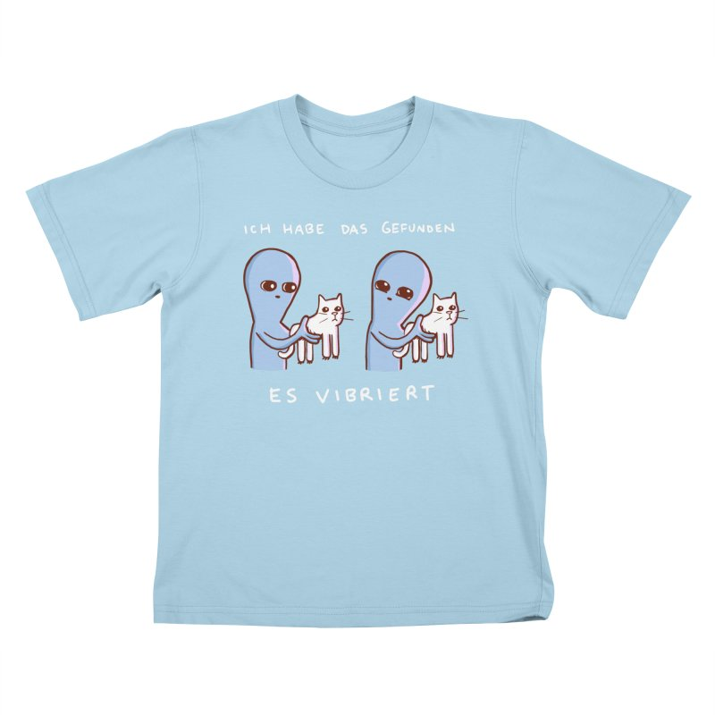 STRANGE PLANET SPECIAL PRODUCT: VIBRATING IN GERMAN Kids T-Shirt by Nathan W Pyle