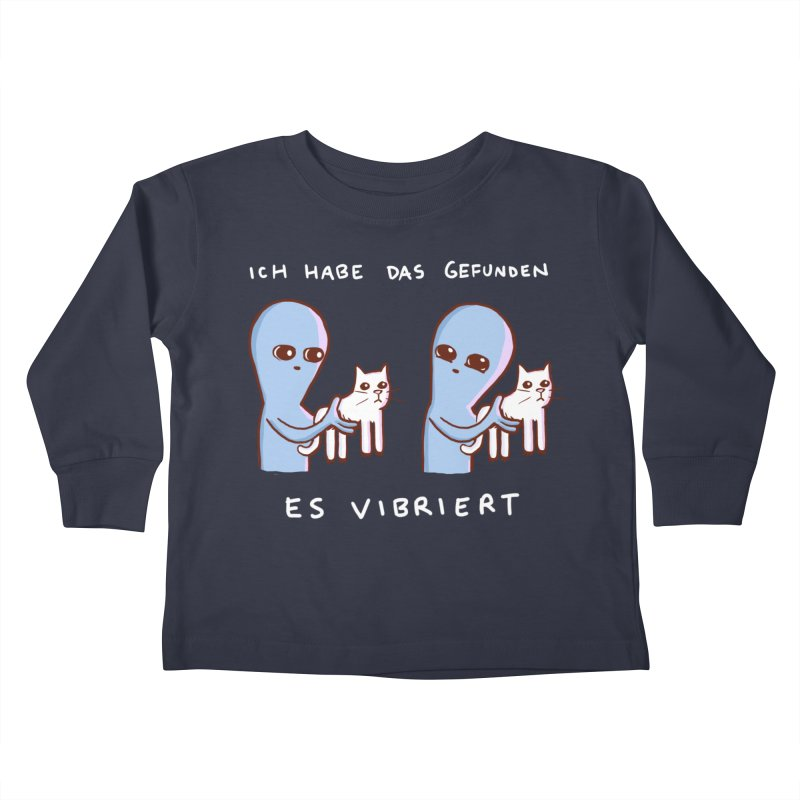 STRANGE PLANET SPECIAL PRODUCT: VIBRATING IN GERMAN Kids Toddler Longsleeve T-Shirt by Nathan W Pyle