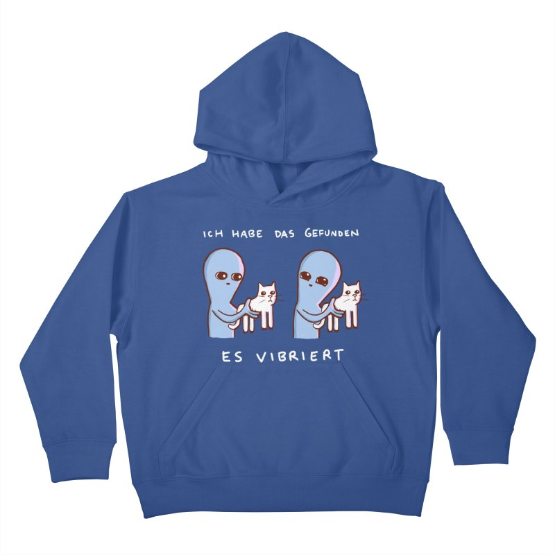STRANGE PLANET SPECIAL PRODUCT: VIBRATING IN GERMAN Kids Pullover Hoody by Nathan W Pyle