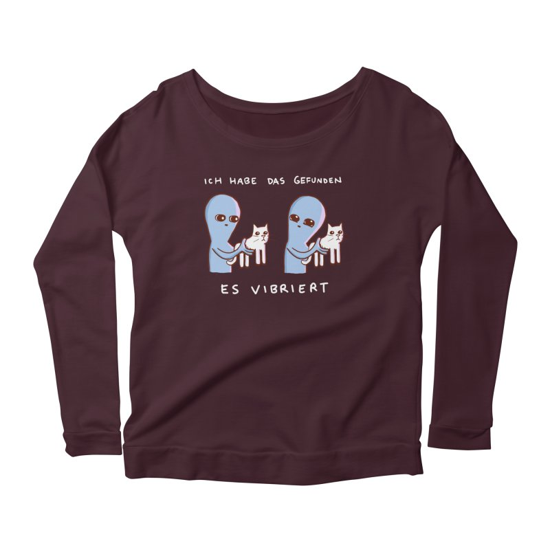 STRANGE PLANET SPECIAL PRODUCT: VIBRATING IN GERMAN Women's Scoop Neck Longsleeve T-Shirt by Nathan W Pyle
