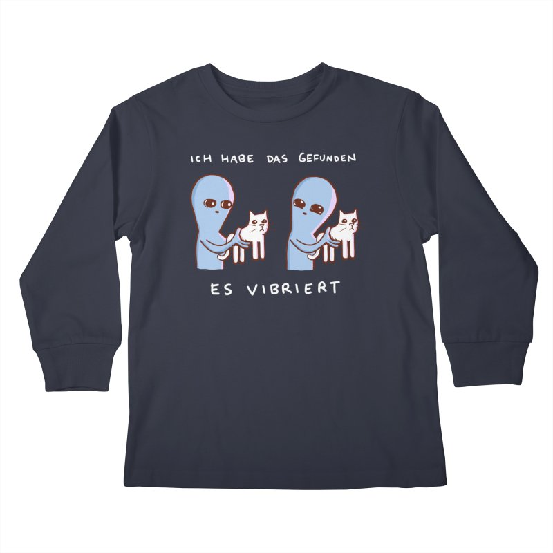 STRANGE PLANET SPECIAL PRODUCT: VIBRATING IN GERMAN Kids Longsleeve T-Shirt by Nathan W Pyle