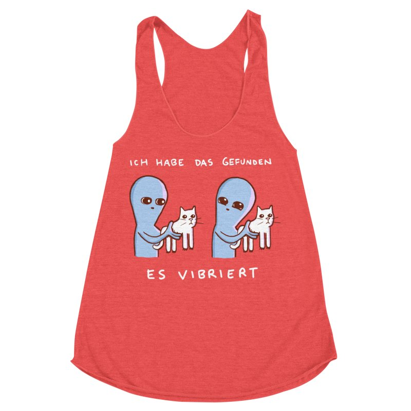 STRANGE PLANET SPECIAL PRODUCT: VIBRATING IN GERMAN Women's Tank by Nathan W Pyle
