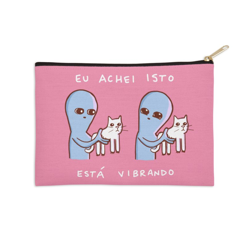 STRANGE PLANET SPECIAL PRODUCT: VIBRATING IN PORTUGUESE Accessories Zip Pouch by Nathan W Pyle