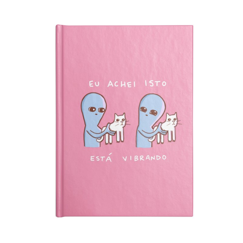 STRANGE PLANET SPECIAL PRODUCT: VIBRATING IN PORTUGUESE Accessories Lined Journal Notebook by Nathan W Pyle