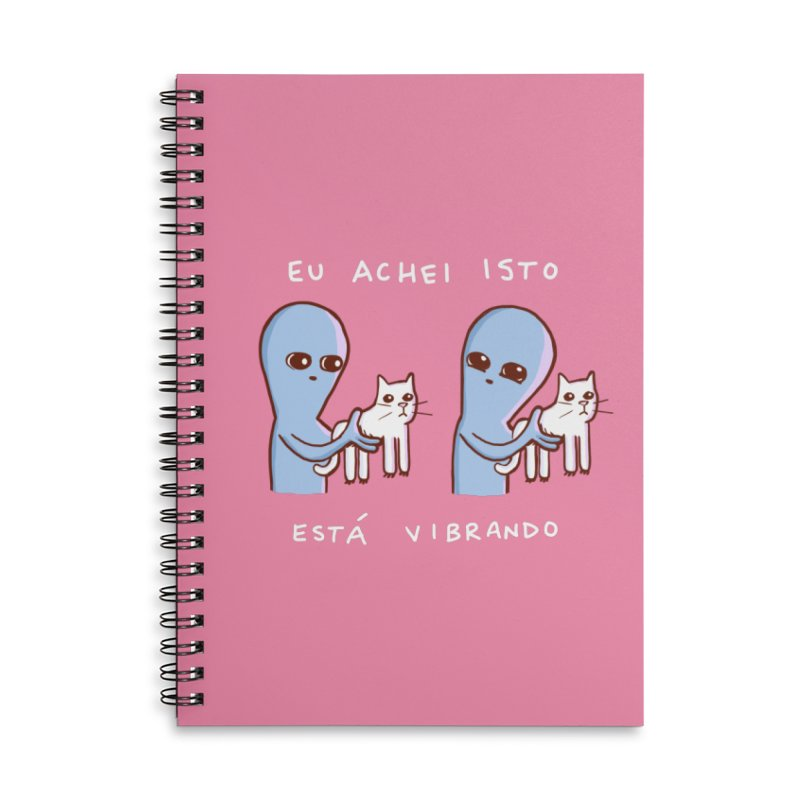 STRANGE PLANET SPECIAL PRODUCT: VIBRATING IN PORTUGUESE Accessories Lined Spiral Notebook by Nathan W Pyle