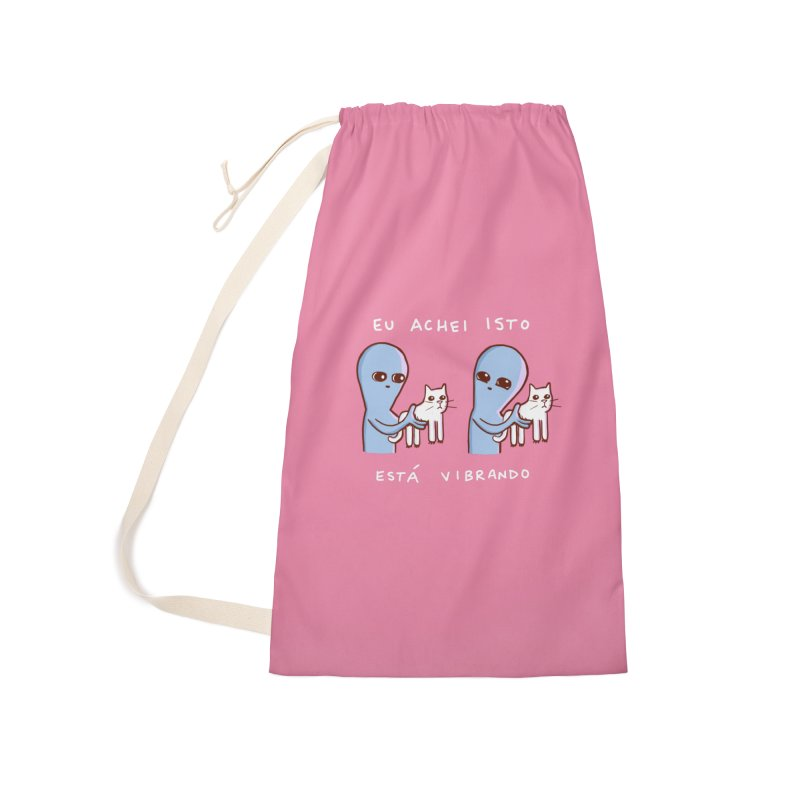 STRANGE PLANET SPECIAL PRODUCT: VIBRATING IN PORTUGUESE Accessories Laundry Bag Bag by Nathan W Pyle