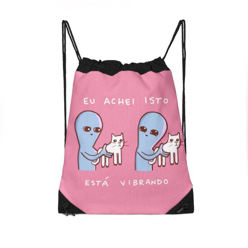 STRANGE PLANET SPECIAL PRODUCT: VIBRATING IN PORTUGUESE Accessories Drawstring Bag Bag by Nathan W Pyle