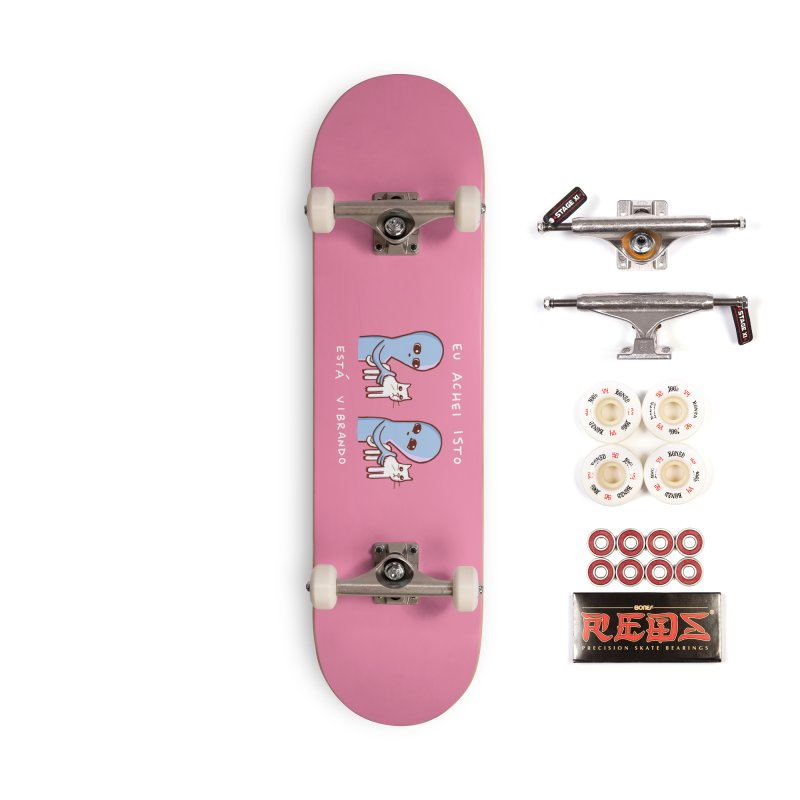 STRANGE PLANET SPECIAL PRODUCT: VIBRATING IN PORTUGUESE Accessories Skateboard by Nathan W Pyle